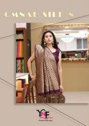 Ynf Omnah Silk Vol-8 Tanchui Art Silk Saree Catalog At Textile Mall Surat Market