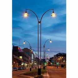 Metal Street Light Pole
