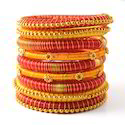 Indian Handcraft Beautiful Colour Silk Thread Bangles