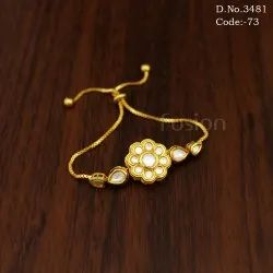 Kundan Adjustable Bracelet