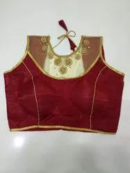 Maroon Art Silk Handwork Blouse