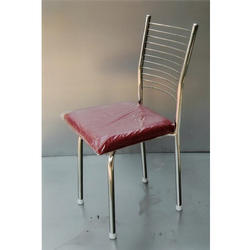 SONIKA Steel Dining Chair, Size: Low Back