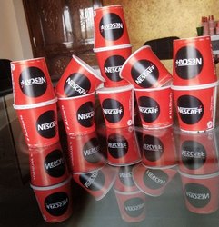Red/Black 130 mL Nescafe Paper Glass