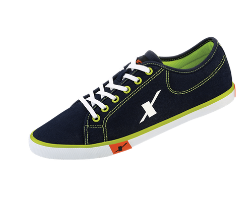 Black And Green Sparx Men Shoes (SM-283