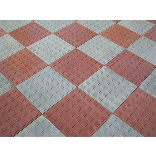 Reflective Chequered Floor Tiles