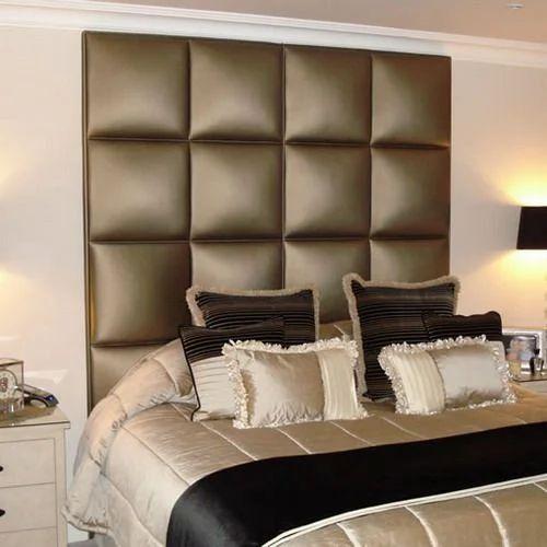 Headboard Wall Panel at Rs 200 /square feet | Cushion Wall Panel ...