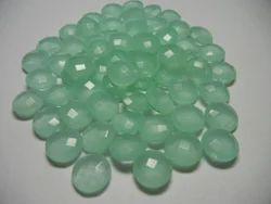 Aqua Chalcedony Round Briolite