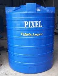 Double Layer Black Plastic Water Storage Tanks, Storage Capacity: 1000-5000 L