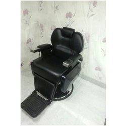 Black Leather Salon Chairs