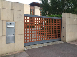 Brown And Grey Steel Gates KA 602