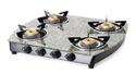 Green Marble Toughened Glass LP Gas Stove