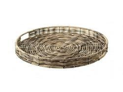 Round Cane Serving Tray