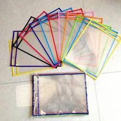 Zipper Transparent Plastic Saree Packing Bag