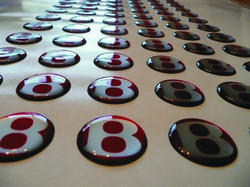 Epoxy Dome Stickers