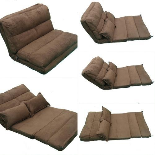 Floor Sofa Bed 120 Cm Wide Brown