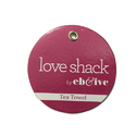 Pink Round Hand Tag