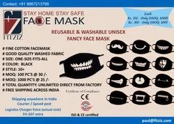 Fitziz Reusable and Washable Fancy Face Mask, Number of Layers: 3