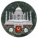 Round Marble Inlay Mother Of Pearl Stone Design Table Top