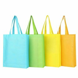 Handmade Plain Loop Handle Woven Bag, Capacity: 5kg