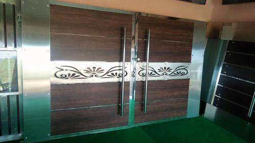 CNC Cutting Service on Acrylic - Metal Carving On Door
