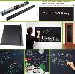 Black Modern Blackboard Wall Sticker, Packaging Size: 6*46, Size/Dimension: 45*200