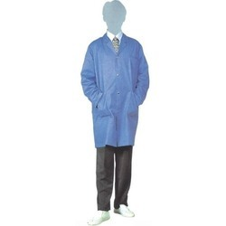 Blue Sky Polyester Cotton ESD Safe Apron, for Laboratory