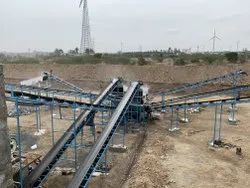 Flat Belt Stone Crusher Conveyor
