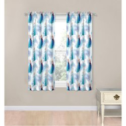 Eyelet Printed Decorative Poly Cotton Window Curtain