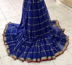 Casual Wear Printed Cotton Sarees, With Blouse, 6.3 m