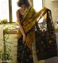 Kristi Art Casual Wear Batik Printed Soft Cotton Saree With Blouse, Saree Width: 44-45 Inch