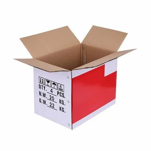 White Kraft Paper Printed Duplex Corrugated Box