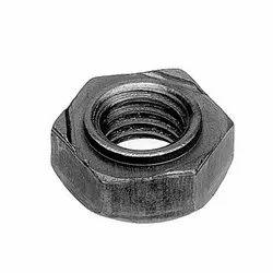 Hexagonal Mild Steel Hex Weld Nut, Grade: 4.6, 5.6