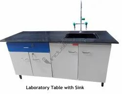 Lab Wall Bench With Sink