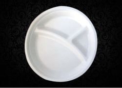 Bagasse 10 3- Compartment Plate