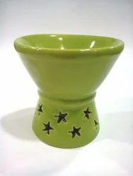 Ceramic Green Candle Burner