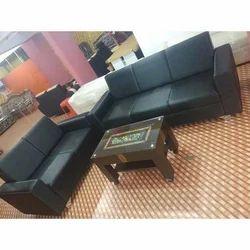 Black 5 Seater Sofa Set for Office