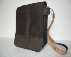 Vertical Leather Sling Bag