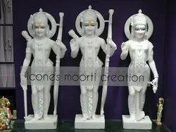 Pure White Marble Ram Darbar Statue