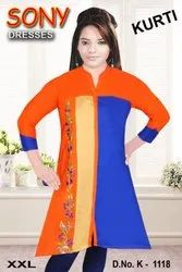 Rayon Regular Ladies Kurti, Size: XXL