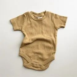 Organic Baby Cotton Ribbed Romper