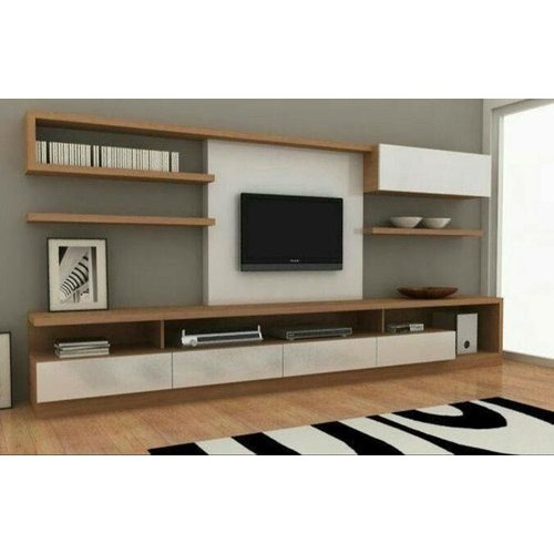 Rectangle Wooden Tv Wall Unit