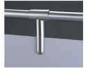 Satin Stainless Steel. Enox Washroom Cubicle Partition Fittings Ewps-002