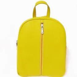 Yellow Plain Ladies PU Leather Shoulder Bag