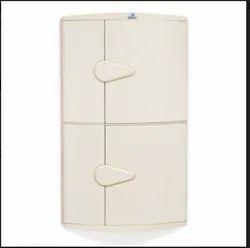 Plastic Maroon Corner Cabinet - 2 Door for Home