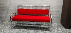 3 Seater Stainless Steel Sofa