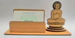 3045 Ajanta Mahavir Swami Wooden Card Holder