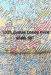 Cotton Dobby Printed Shirting Fabric