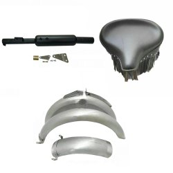 Royal Enfield Motorcycle Fender Set, Front Seat, Exhaust British Bike Replacement Spare Parts