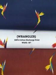 100% Cotton Discharge Print (Wrangler)