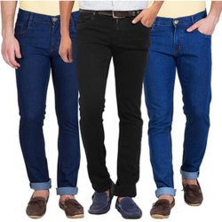 Slim Fit Mens Plain Denim Jeans, Waist Size: 28-38